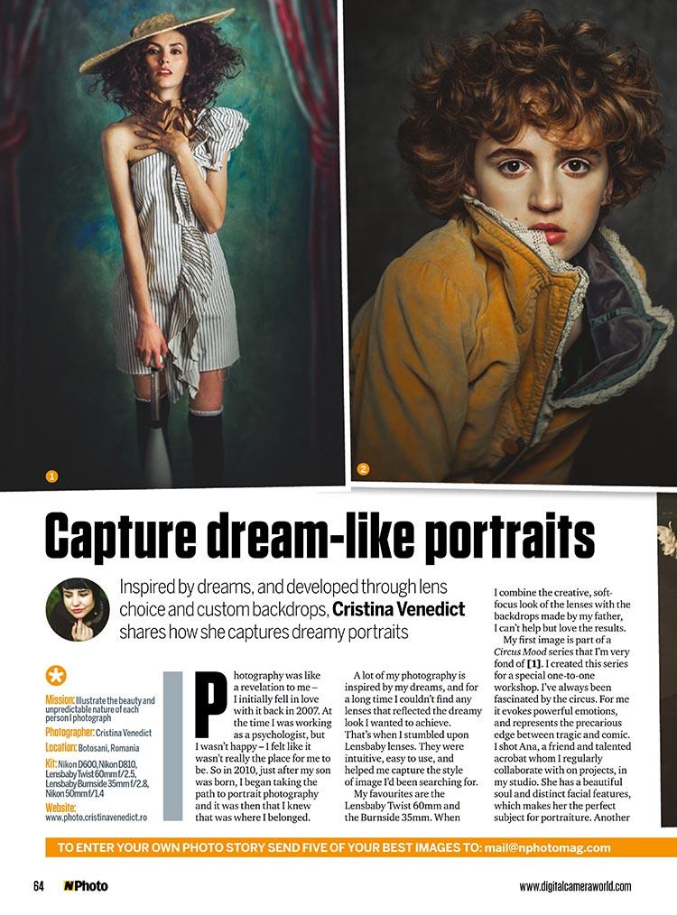 Featured on N-Photo Magazine | Cristina Venedict Photography